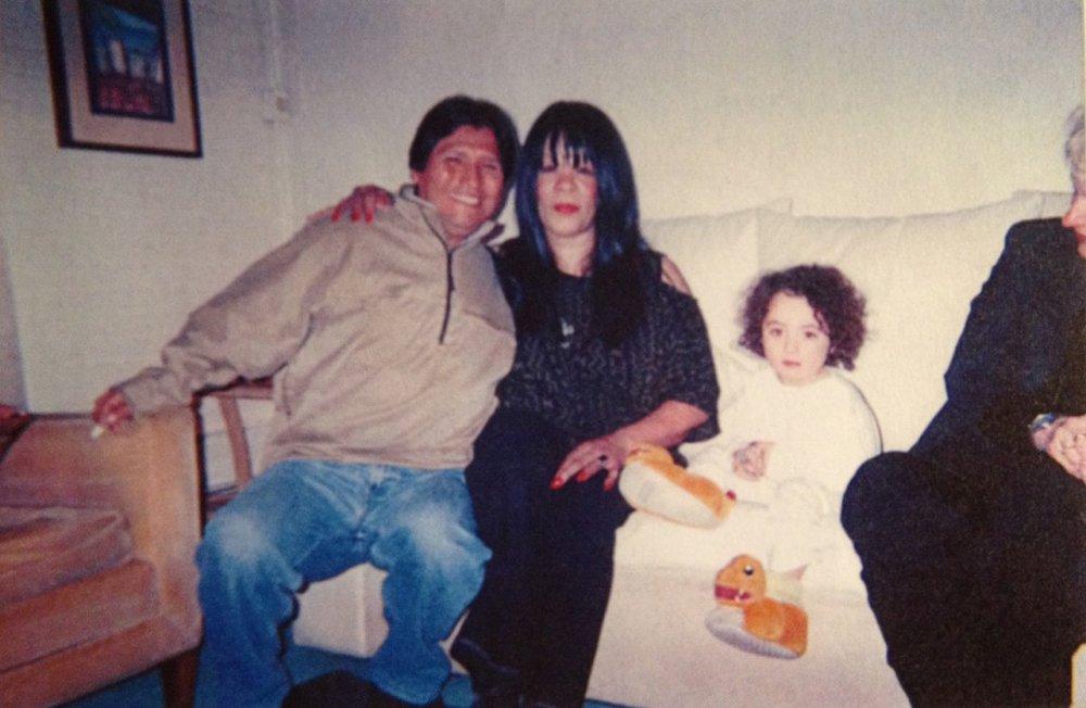"Joya with a ""crystal"" child and a dear friend, Jose, an Ayuaska Shaman in Peru."