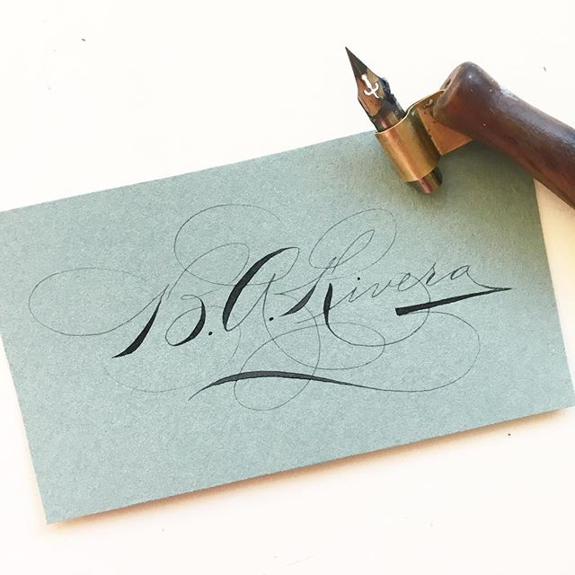 Inspired by my signature writing friends, @mrmgward and @simplebc I decided to design one for myself! I think it looks vintage-y...🖋 Does anyone remember the signature exchange last year? Would anyone want to do it this year? #calligraphycloseups . . . #ornamentalpenmanship #signature #signaturedesign #spencerian #cardwriting #iampeth #zanerian #calligraphy #calligraphymasters #calligraphylove #penmanship #lettering #moderncalligraphy #postyourpractice #script