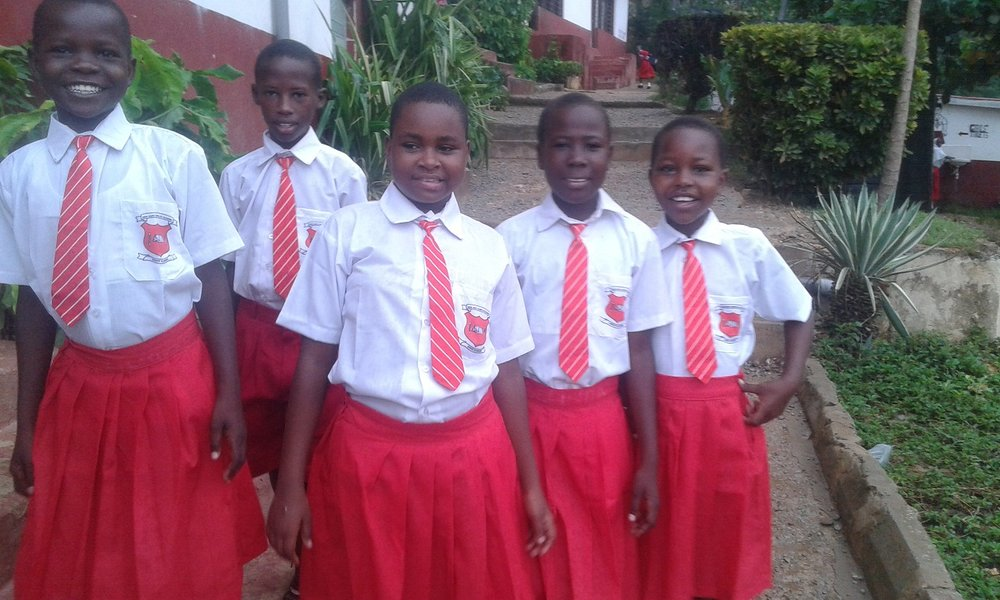 04 30 16 Girls from New hope childre`s home in their new uniforms donated by Norgien Girls Heidi  & Marte ..jpg