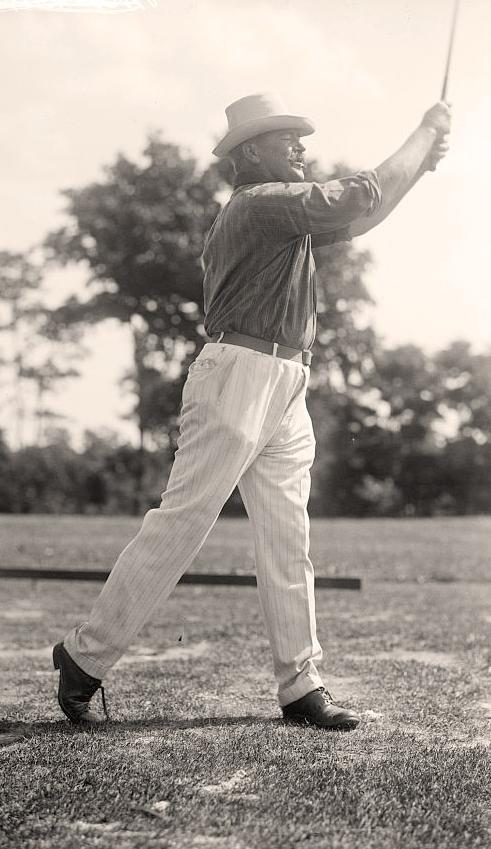 Man Playing Golf 1914