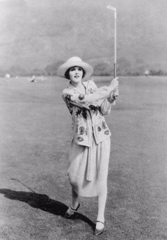 Mary Astor Golfing