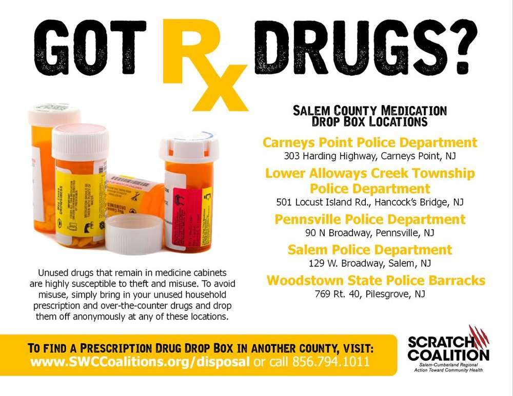 Most police departments in our area have safe disposal sites for you to get rid of your unwanted prescription pills. Remove the danger and clutter from your home today!