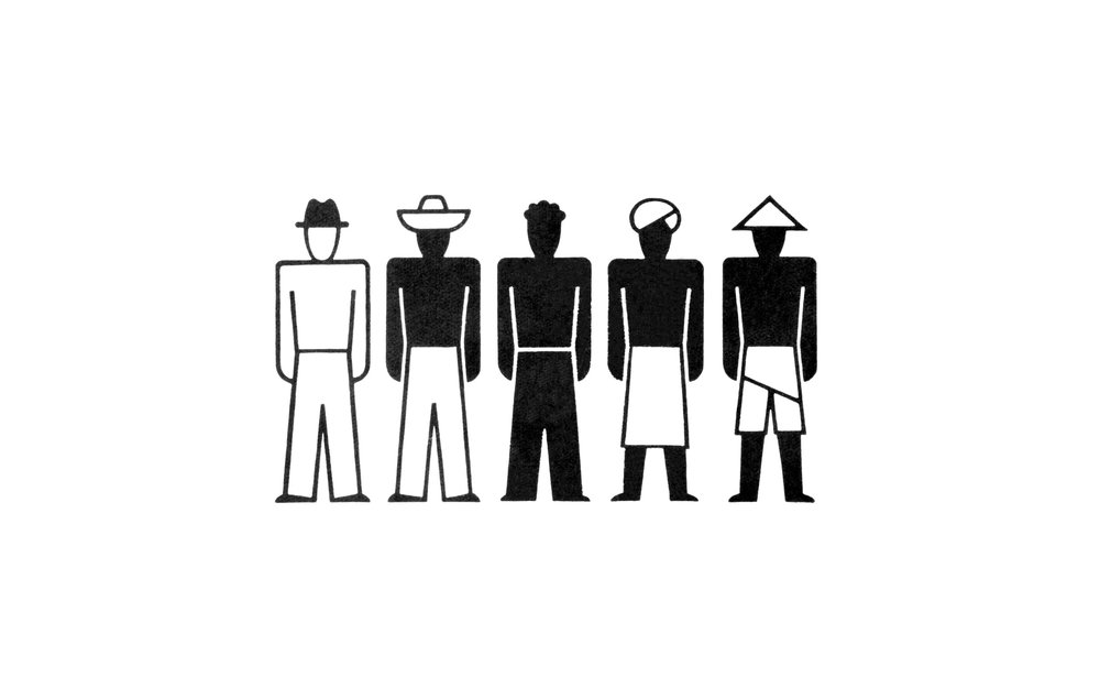 Fig. 5: Gerd Arntz, Isotype 0148, various races 1929-1965, copyright Gemeentemuseum Den Haag.