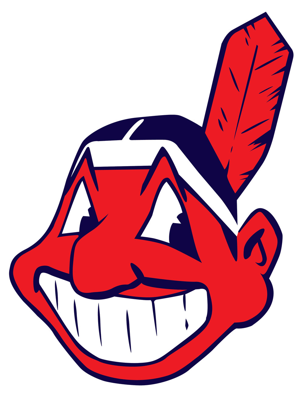 Afbeelding 6: Logo van de Cleveland Indians, genaamd 'Chief Wahoo', 1951-heden. Ontwerp Walter Goldbach, 1947. Copyright Cleveland Indians.