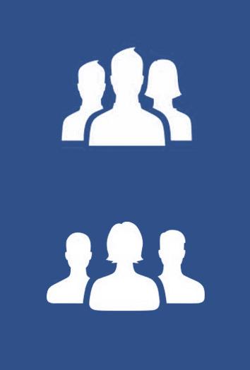 Afbeelding 9: Facebook groep symbool. Boven: voormalig ontwerp. Onder: nieuw ontwerp door Caitlin Winner. Copyright Facebook.