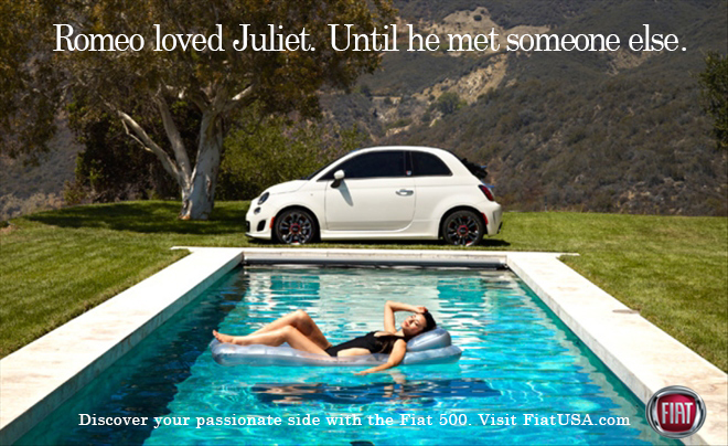 Romeo loved Juliet. Until he met someone else.