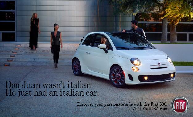 Don Juan wasn't Italian. He just had an Italian car.