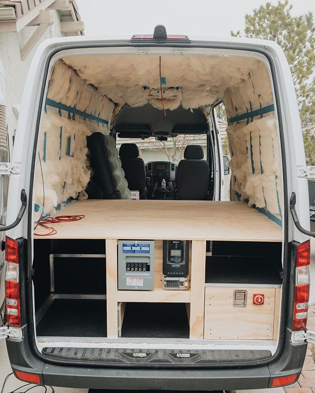 Swipe through the photos to see van progress over the past couple months! Couldn't have done it without @havelock_wool! The insulation was such a key part in our design since the van will see a variety of weather conditions. We're hoping to complete the van by Spring!  www.activfilms.tv | #stayactiv #vanlife #vanconversion #sprintervan #activan