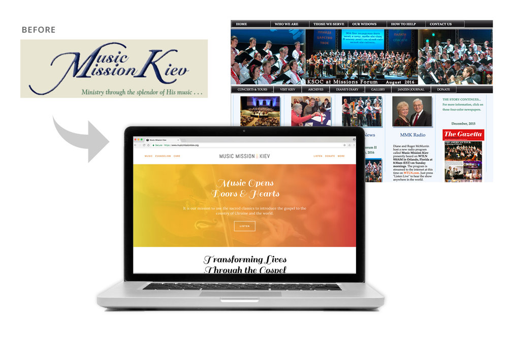 MINISTRY REBRAND, WEBSITE DESIGN