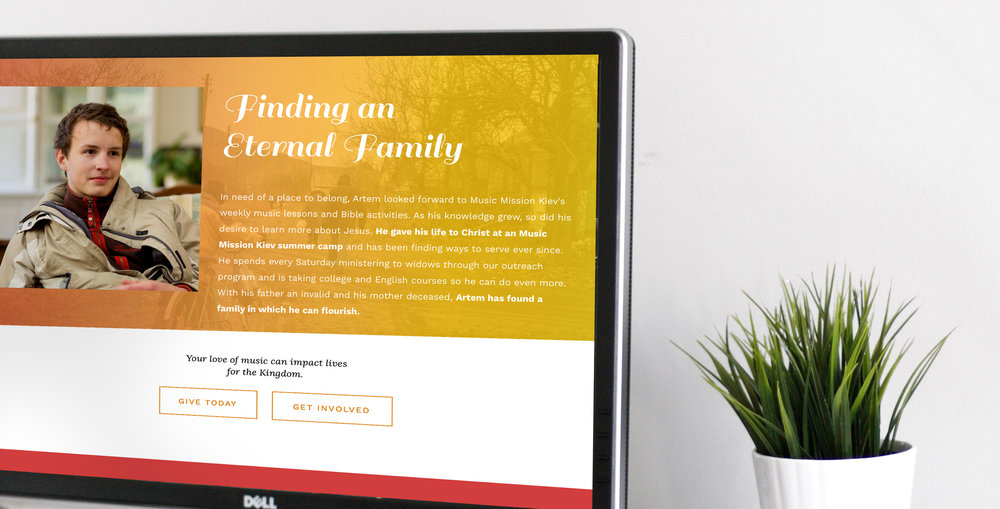 ORPHAN CARE, WEBSITE REDESIGN