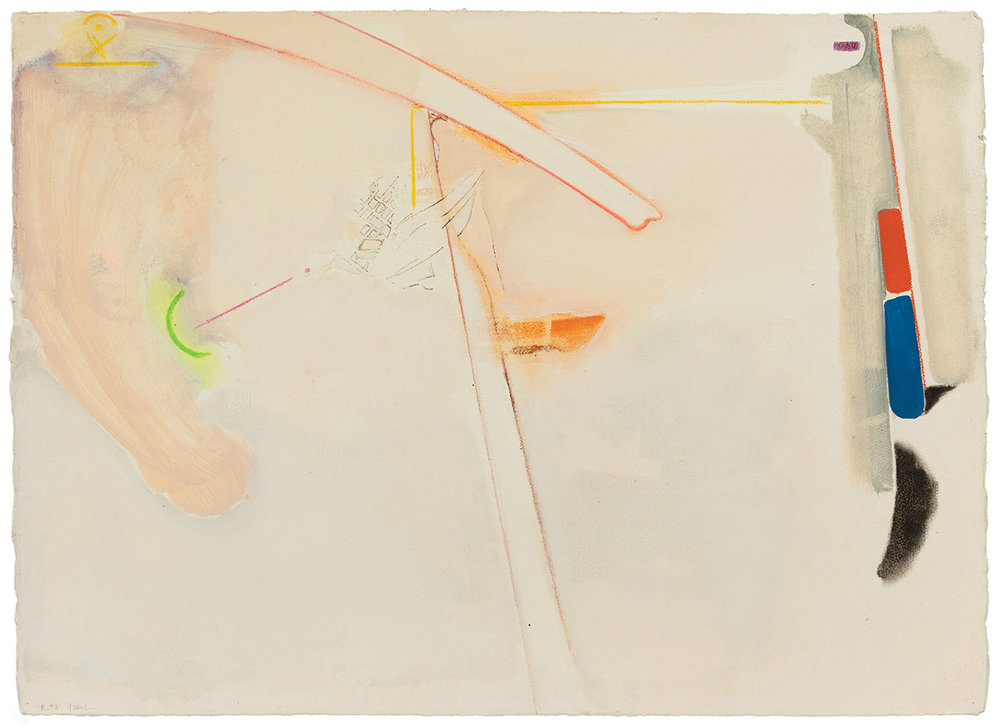 Stephen Greene,  R. 3,  1973, mixed media on paper, 22 x 30 1/4""