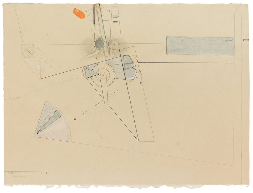 Stephen Greene,  Biograph 8,  1967, mixed media on paper, 21 1/2 x 28 3/4""