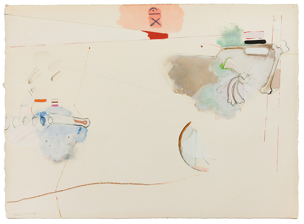 Stephen Greene,  S. 1,  1974, mixed media on paper, 22 x 31 1/2""