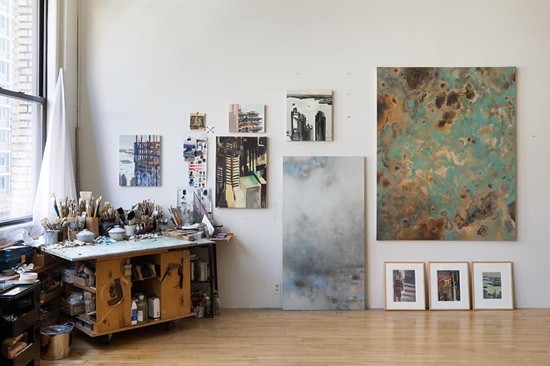 Jacqueline Gourevitch's studio, 2018