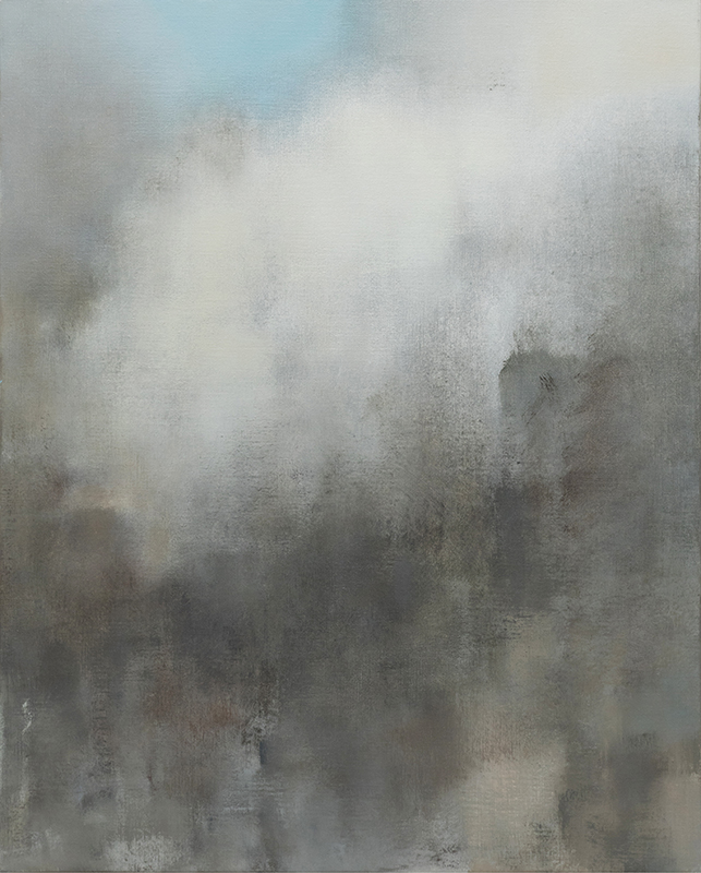 Jacqueline Gourevitch,  Cloud Painting #221,  2007, oil on linen, 30 x 24""