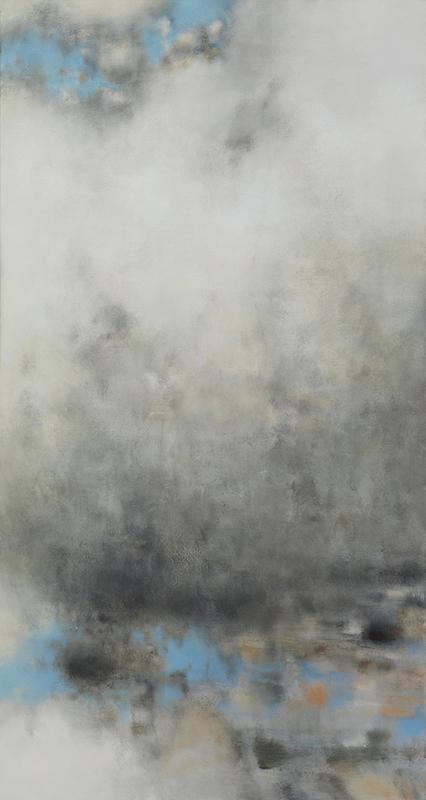 """Jacqueline Gourevitch,  Cloud Painting #224,  2008, oil on linen, 60 x 32"""""""
