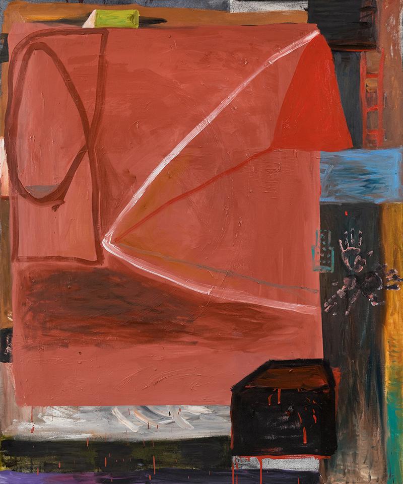 "Elizabeth Dworkin,  Roundhouse , 2010, oil on canvas, 72 x 60"""