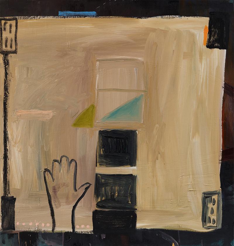 "Elizabeth Dworkin,  I'm Here , 2013, oil on canvas, 32 x 30"""