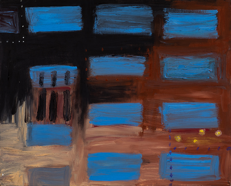 "Elizabeth Dworkin,  Screen , 1993, oil on canvas, 16 x 20"""