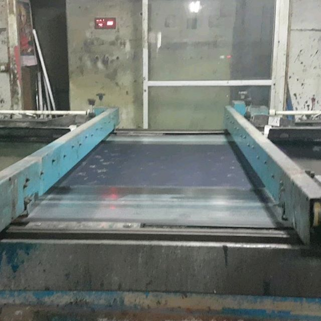 Additional footage of textile printing factory. Clip #1: automated 6-color screenprint in- process  Clip #2: steaming/ setting the completed printed yardage.  Over 50,000 meters of cloth are printed per day in this facility, and mostly distributed to the US markets. #textilesfieldstudy #textilefieldtrip