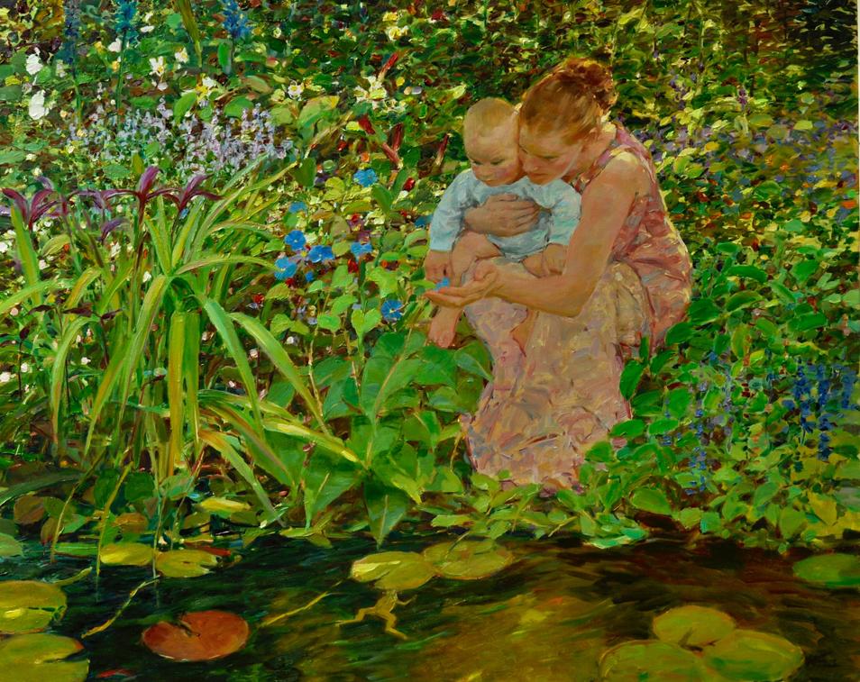 Visit to Ann's Pond 24x30 oil canvas  $7500  72.jpg