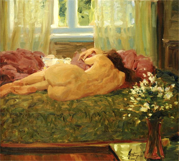 A Quick Nap  12 x 16 Sold.jpg