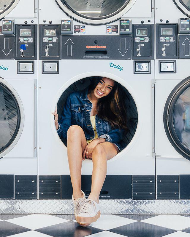 Stoked that I finally got to do this shoot! Thanks @natalylorenzo for climbing into the dryer despite the awkwardness.