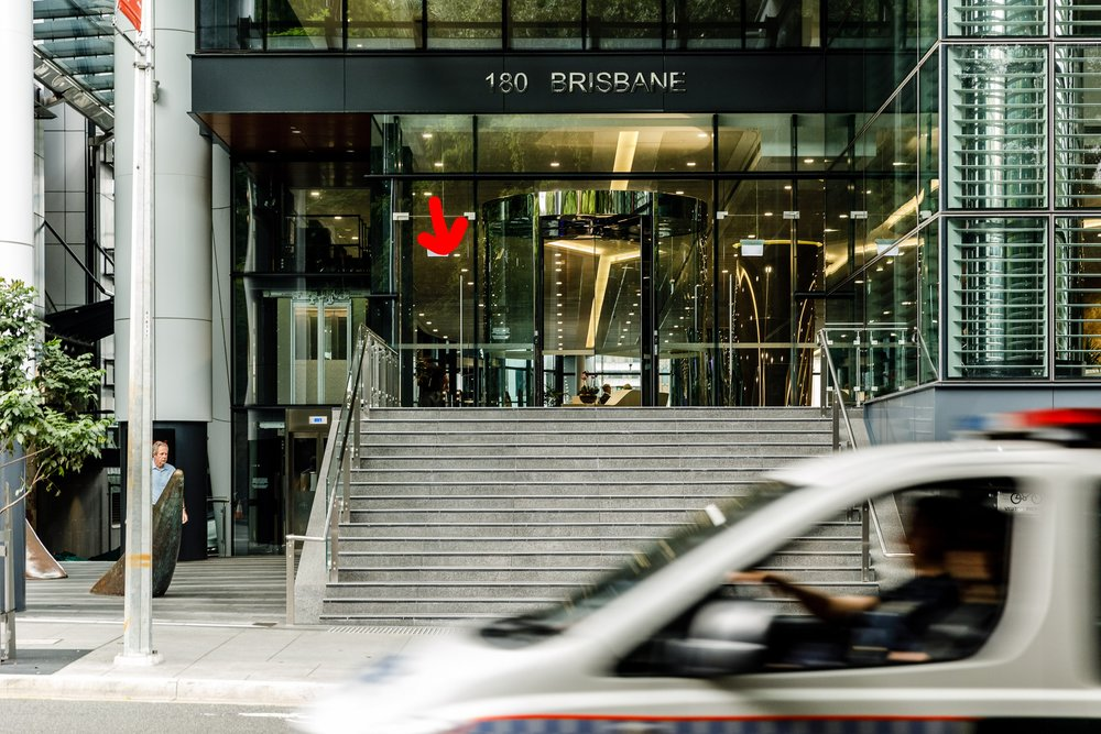 The Turbot Street Entrance to 180 Brisbane (180 Ann Street) on a Saturday. Photo by Chris Jack