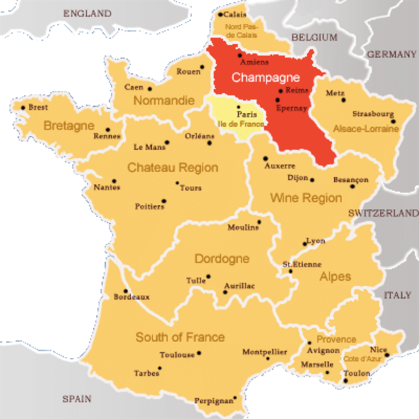 champagne region of france note that this is not the political region known