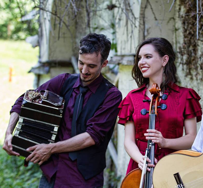 Emmanuel Trifilio, bandoneon player and Devree Lewis, cellist.