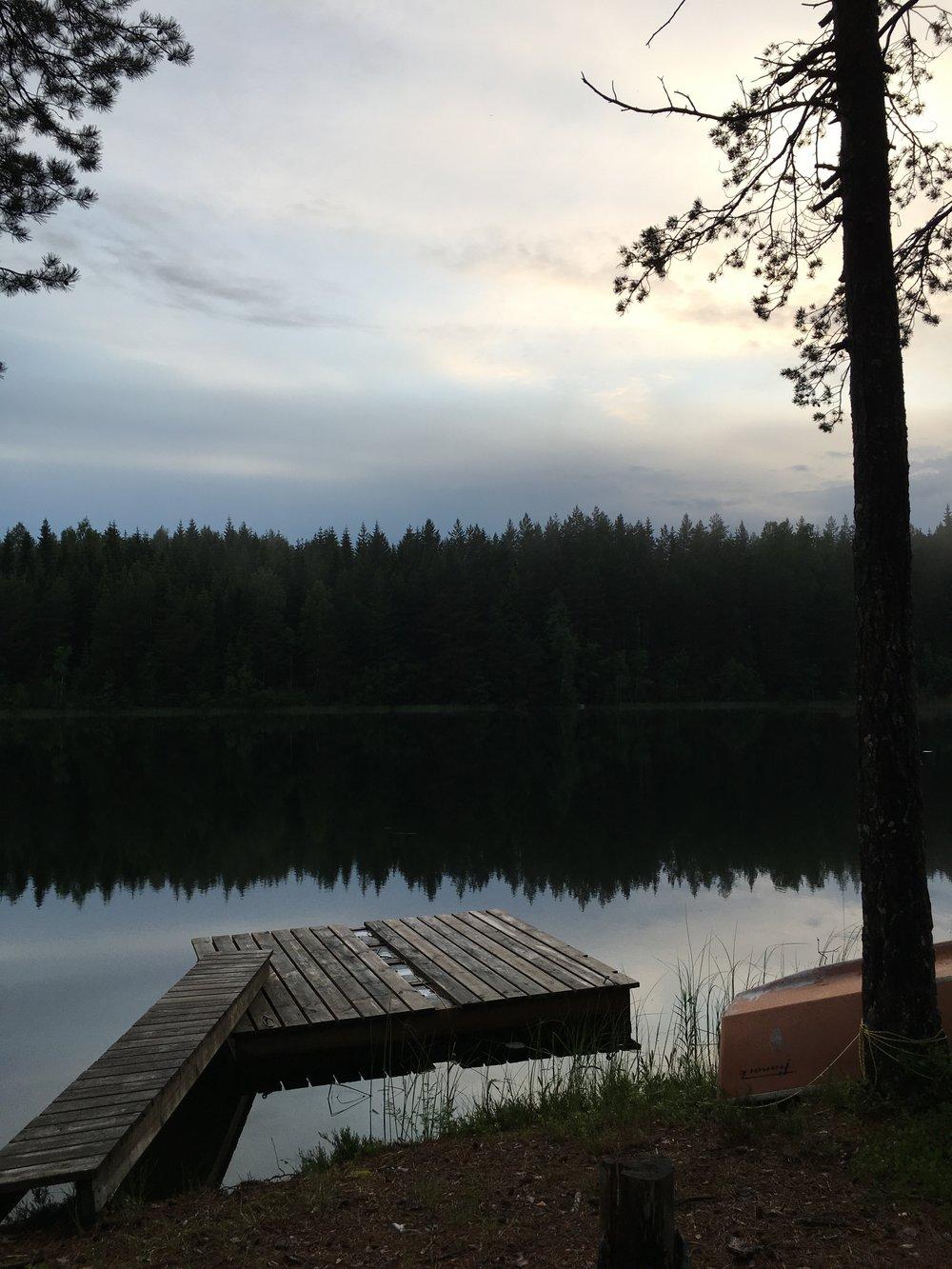 The farm's private lake