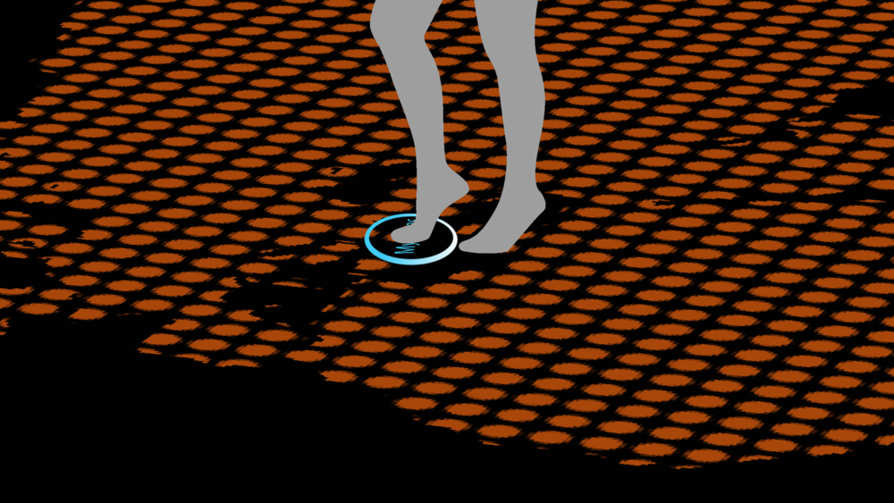 Double tap with your foot to instantly travel -