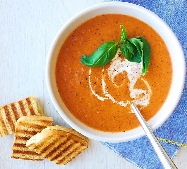 Grilled Cheese and Tomato Basil Soup  - This is my favorite comfort food, other than the traditional Southern Sunday Meal. I like to make this on a lazy night where we can focus on hanging out rather than cooking and cleaning. Tip: If you don't have time to make soup, most grocery stores sell pre-made Organic Tomato Soup that is ready to heat and serve.