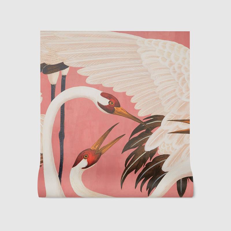 Heron Print Wall Paper