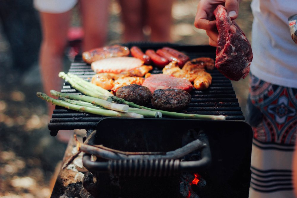 barbeque with friends in Los Angeles