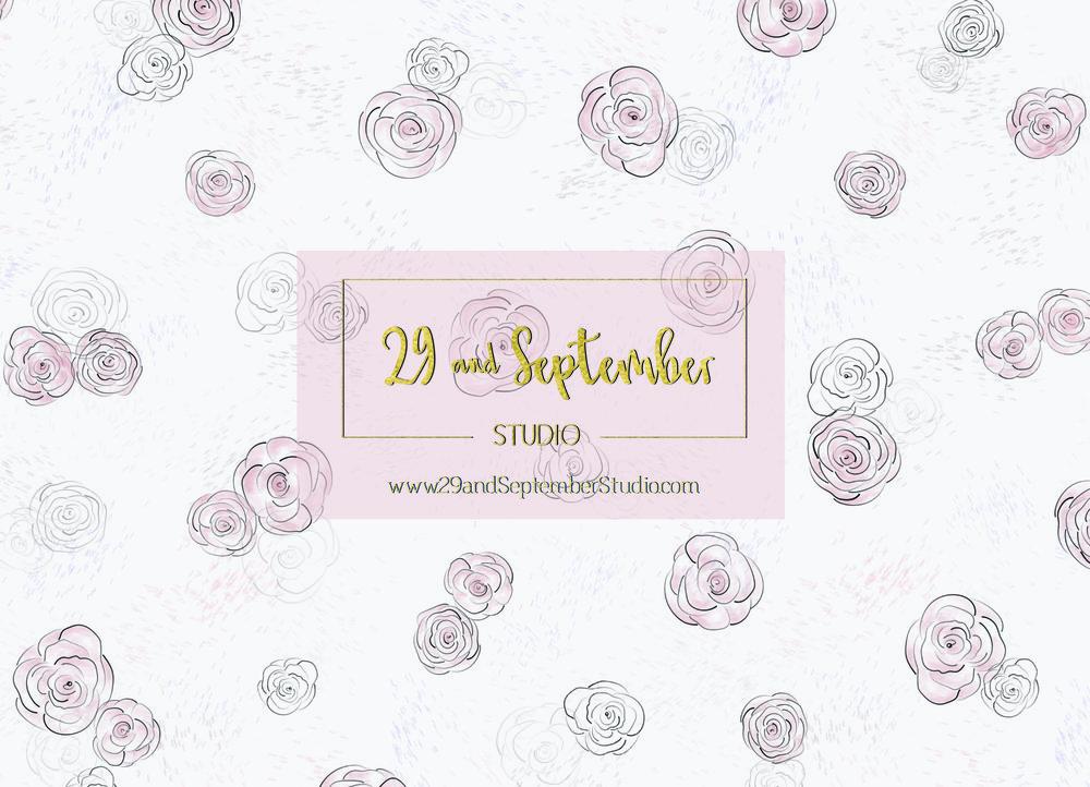 Sketchy florals 1 by 29andSeptember Studio