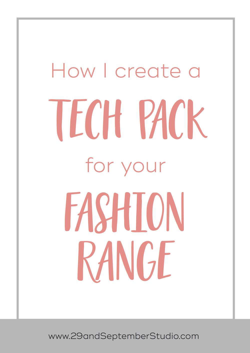 How to create a tech pack for your fashion designs