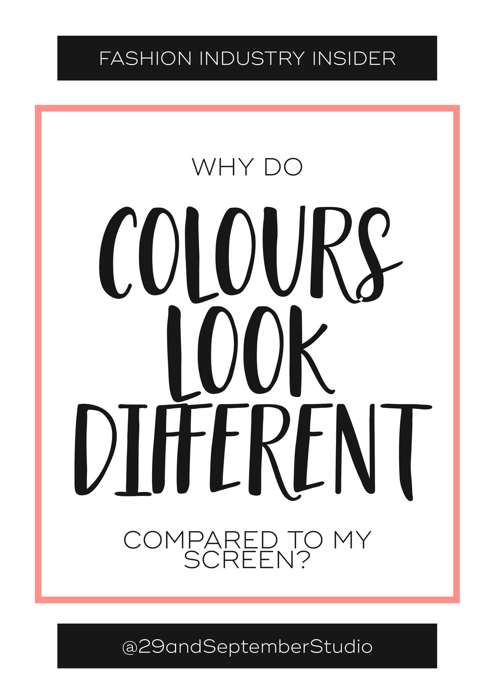 Why do colours look different on my fashion fabric or print, compared to what I saw on my screen?