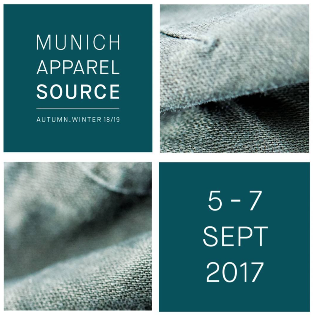 Munich Fabric Start covered the trend info, trim + fabric suppliers, while the nearby Munich Apparel Source covered manufacturers.   Graphic courtesy of Munich Apparel Source