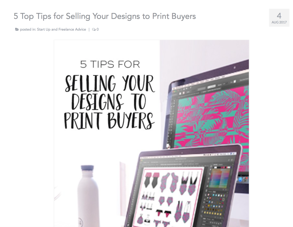 29andSeptember Studio for Print & Press London; 5 Top Tips for Selling Your Designs to Print Buyers