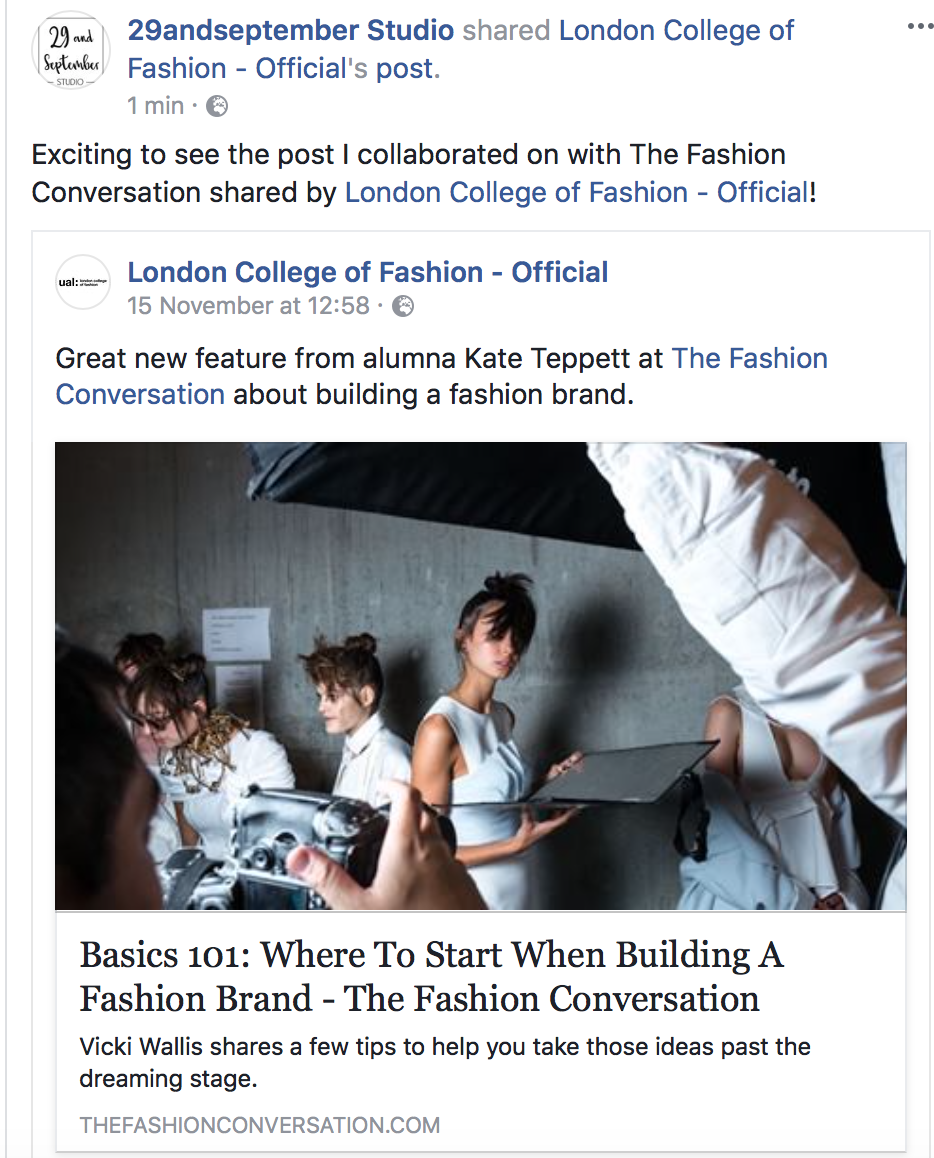 29andSeptember Studio + London College of Fashion