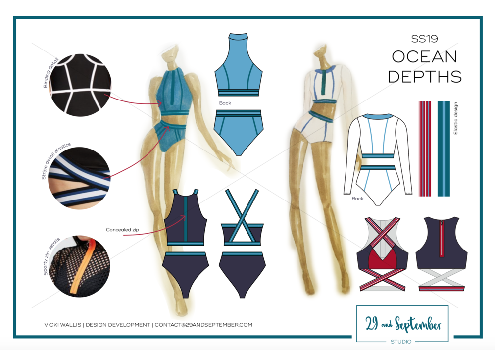 29andSeptember Studio design + technical drawings | swimwear trends