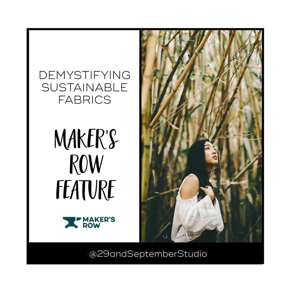 Sustainable fabrics