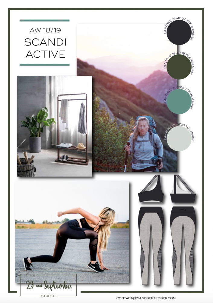 F/W 2018/19 Activewear Trend; Scandi   technical drawings for apparel by 29andSeptember Studio   Free fashion trend information   WGSN