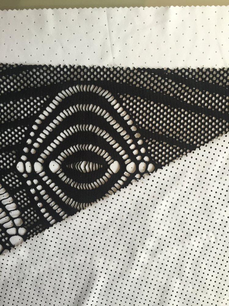Textured fabrics create interest within the design