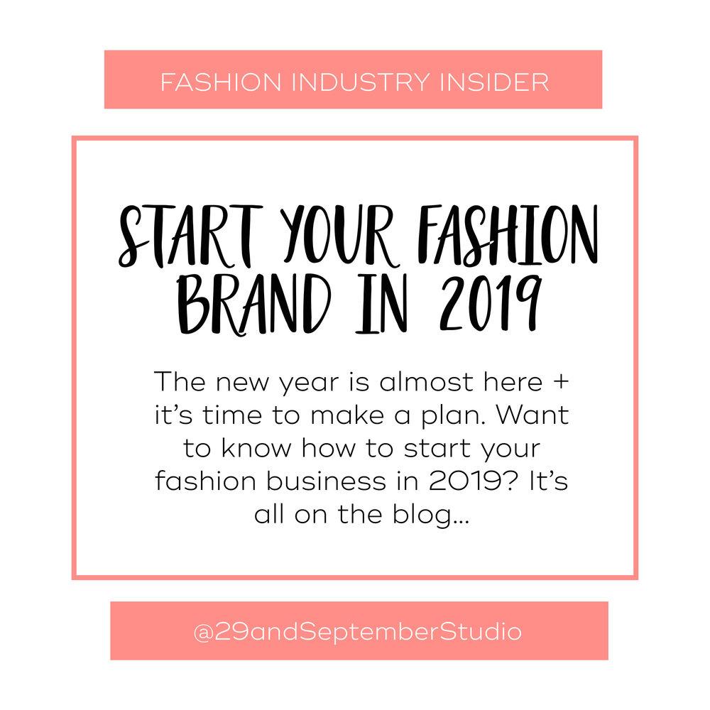 Start a fashion brand