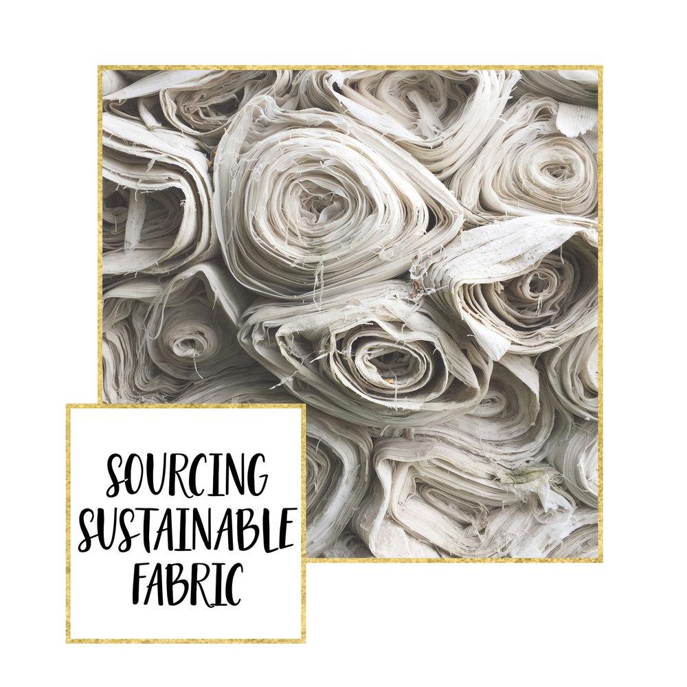 Source sustainable fabrics