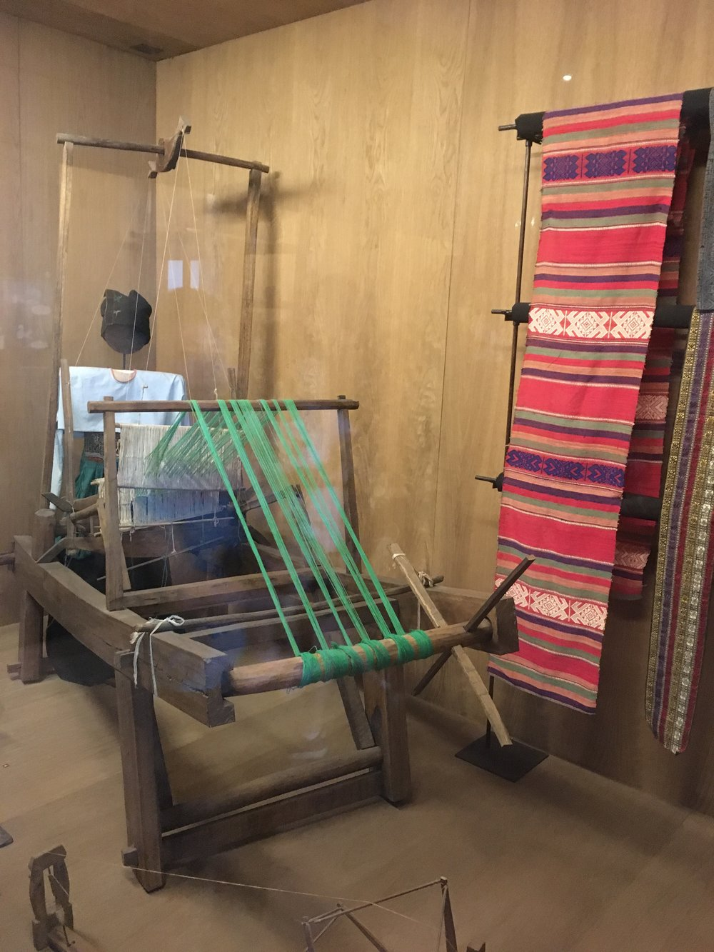 Learning about traditional weaving techniques in Ho Chi Minh City