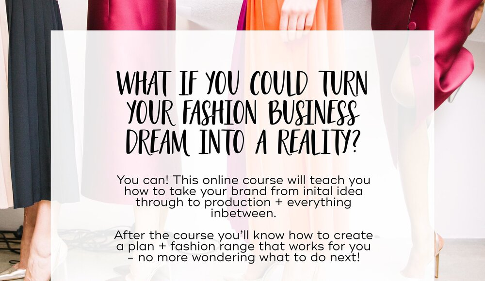 Online course for fashion brand startup business, by 29andSeptember Studio