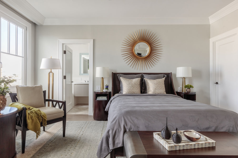 DESIGN415 | San Francisco Pacific Heights Master Bedroom Decor